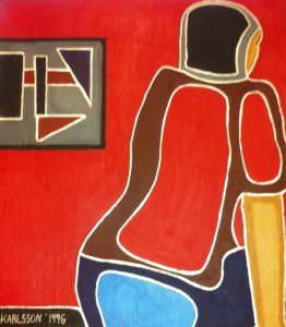 Novotowa Akrylmålning på Duk 63 x 56 cm