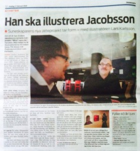 Lars illustrerar Jacobsson
